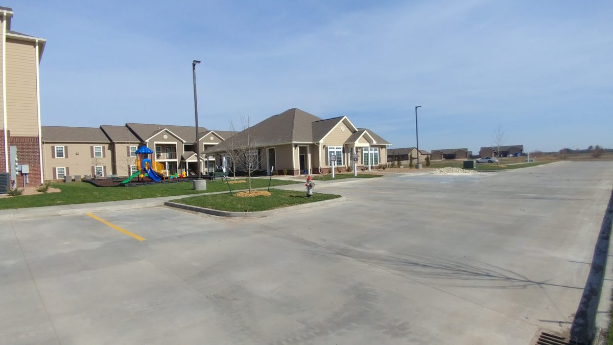 Broadstone Villas II welcome center and playground