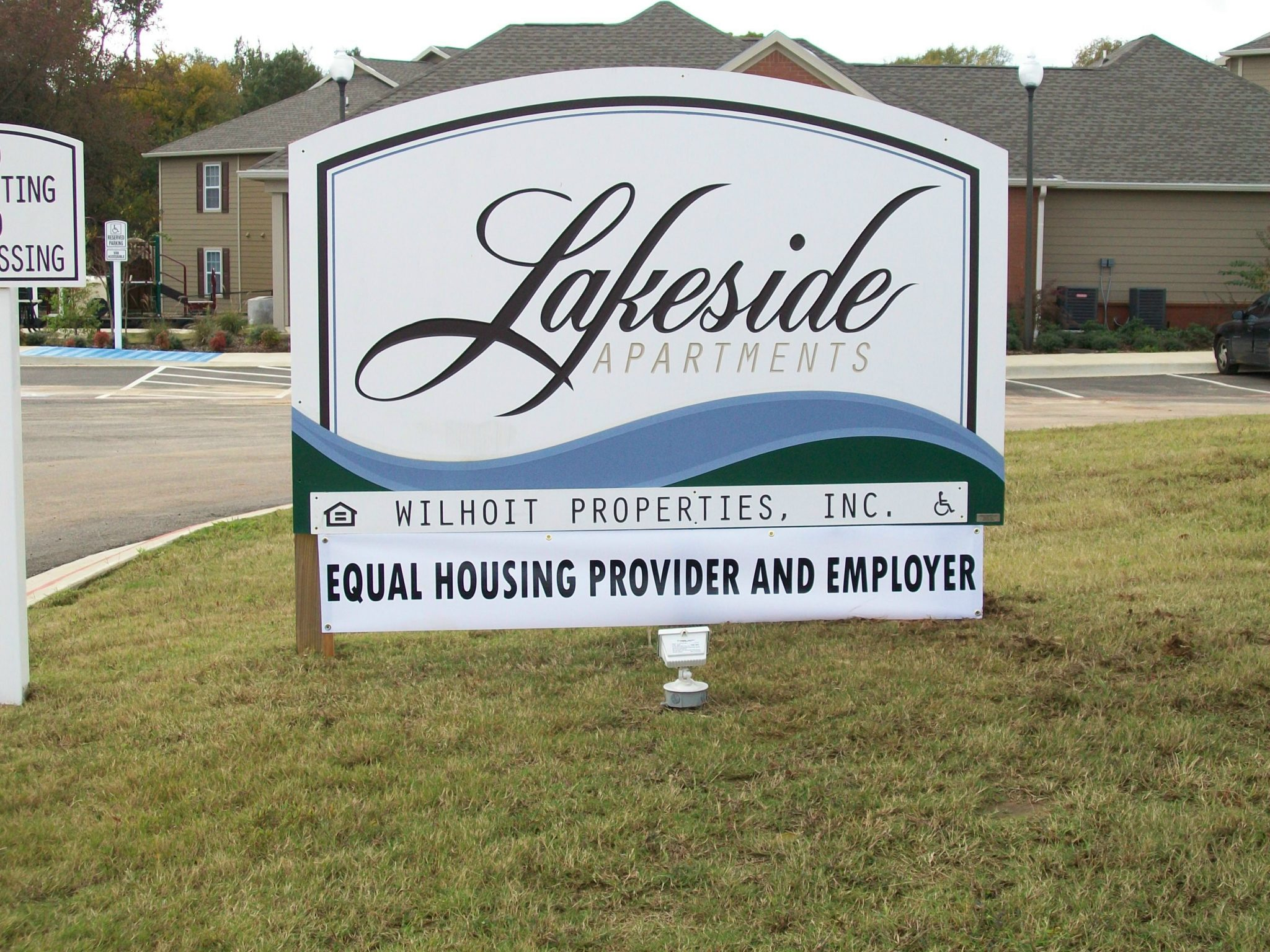 Lakeside Apartments Mt Pleasant Texas Property Sign