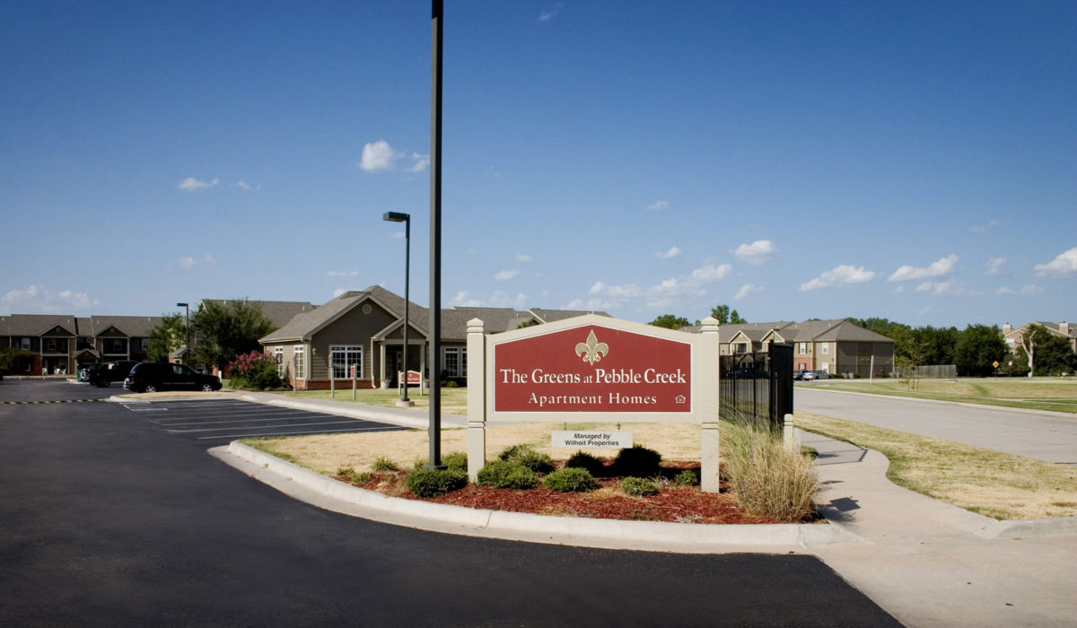 The-Greens-at-Pebble-Creek-Mustang-Oklahoma-Sign