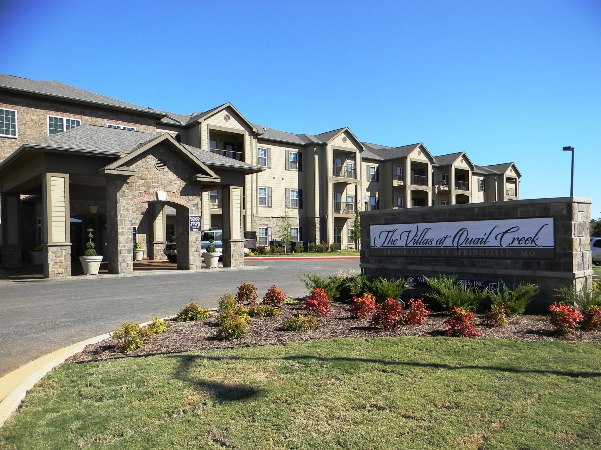 Villas at Quail Creek entrance sign