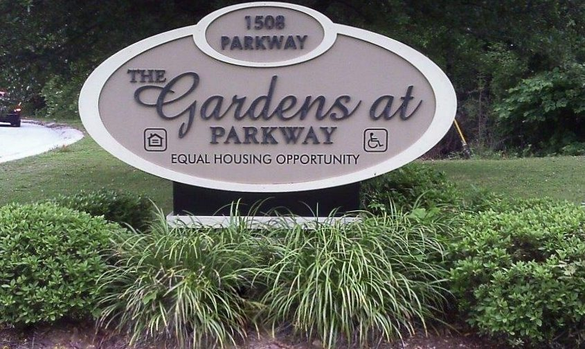 Gardens at Parkway Greenwood SC sign