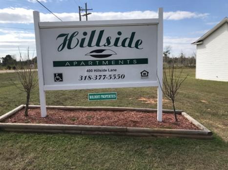 Hillside Apartments Minden Louisiana Sign