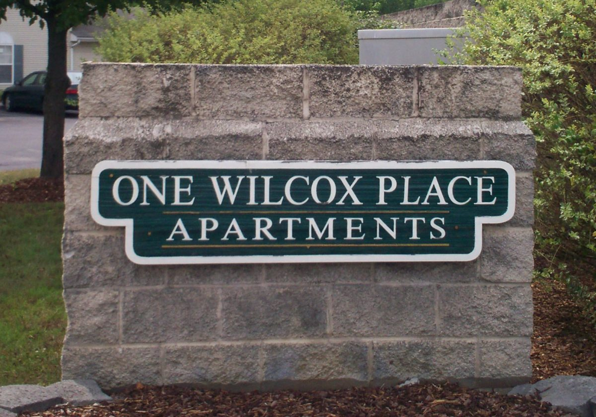 One Wilcox Place Kingsport TN entry sign