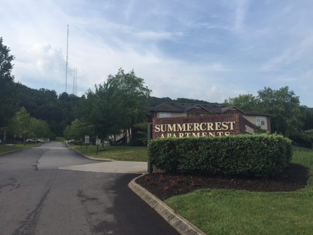 Summercrest Apts Knoxville TN Front Sign