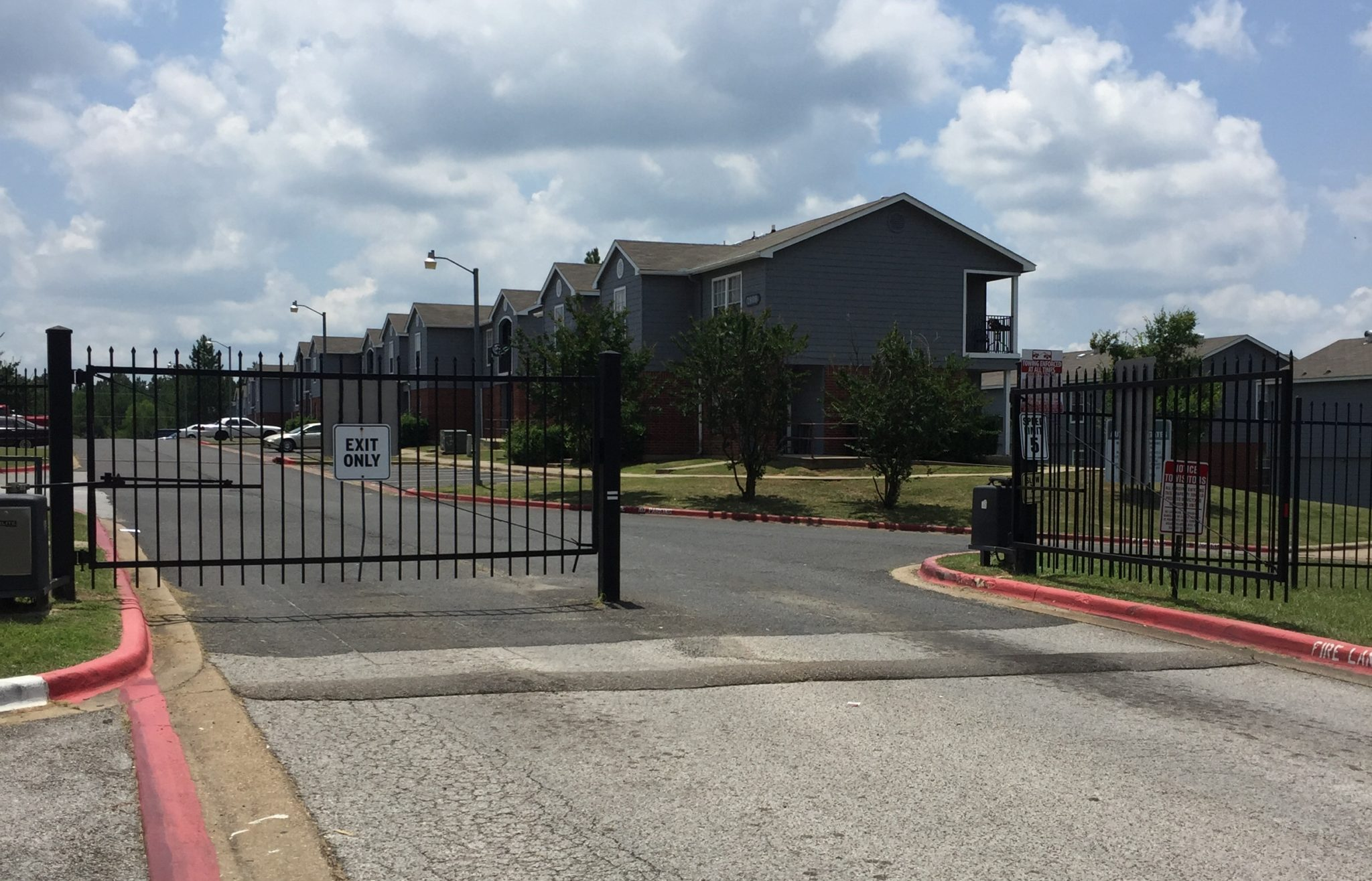 Highland Village Longview TX gated entrance
