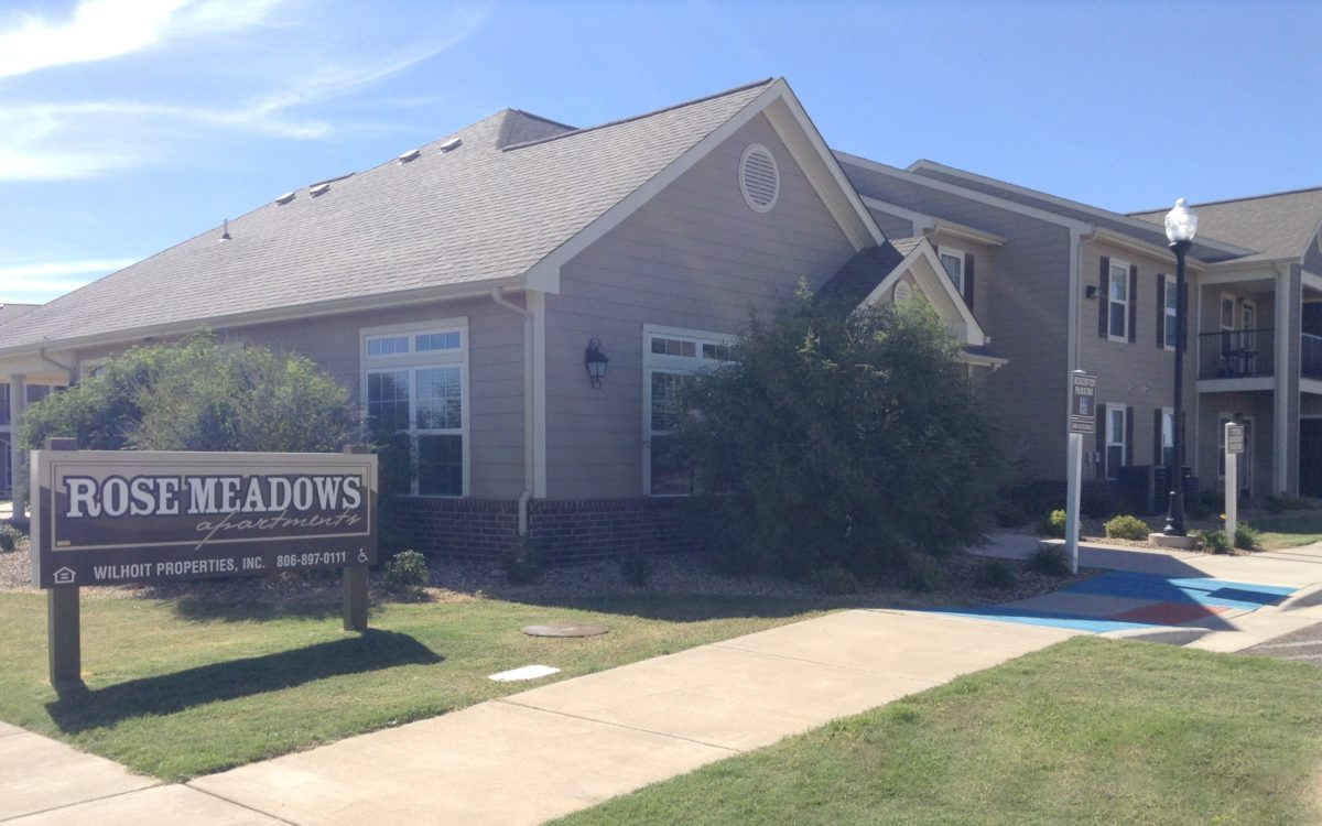 Rose Meadows Apartments Levelland Texas welcome center