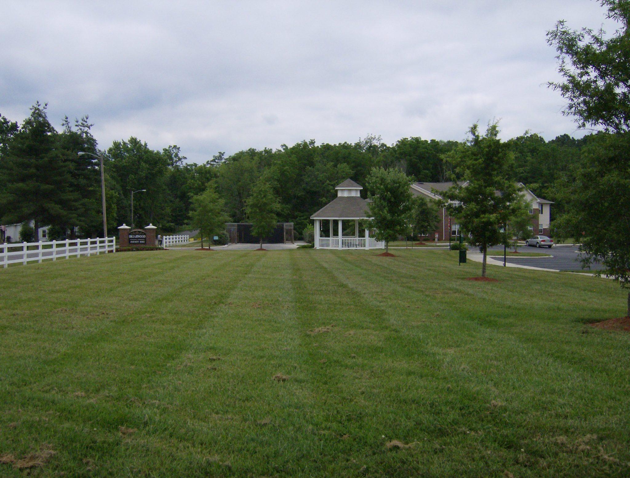 Briarwood Dog walk area and entrance