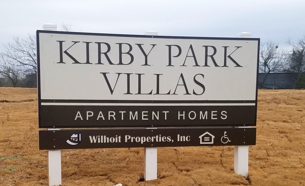 Kirby Park Villas San Angelo Texas main property sign