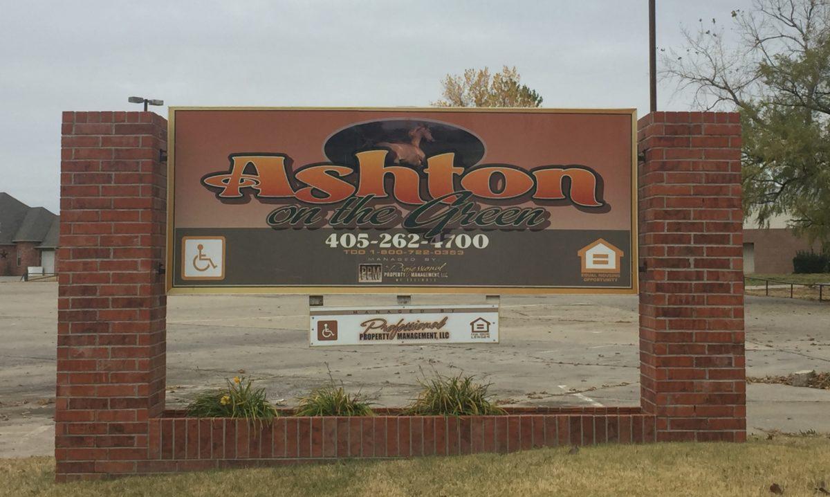 Ashton on the Green sign