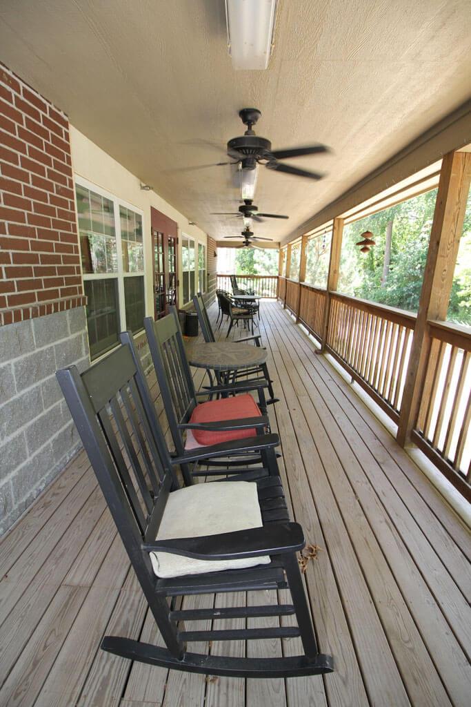 Redbud Village Glenpool Oklahoma rocking chairs