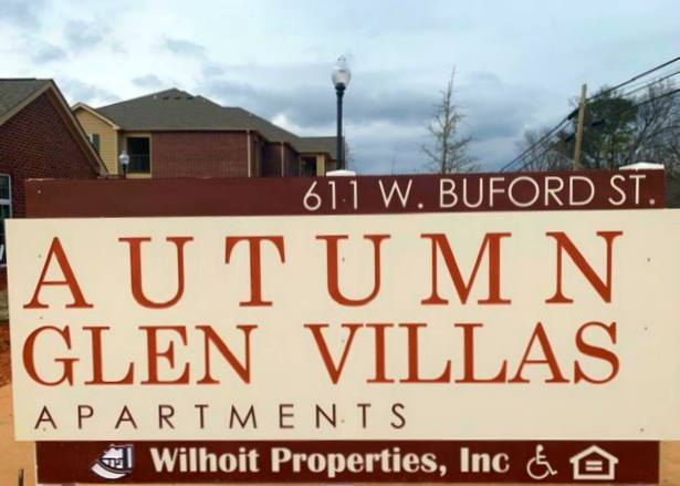 Autumn Glen Villas Gaffney South Carolina Property Sign