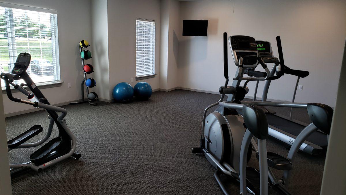 Villas at Lark Pointe fitness cardio room