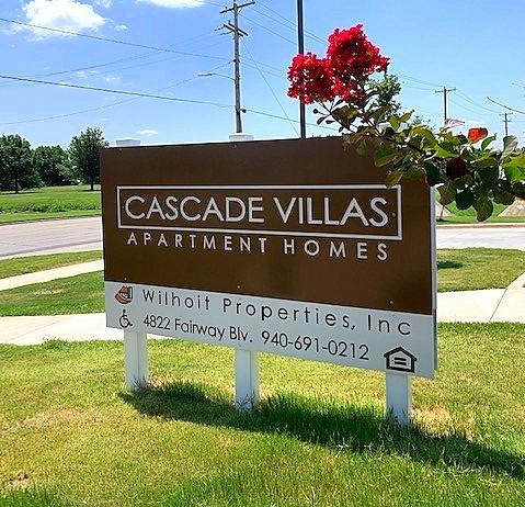 Cascade Villas Wichita Falls TX main sign