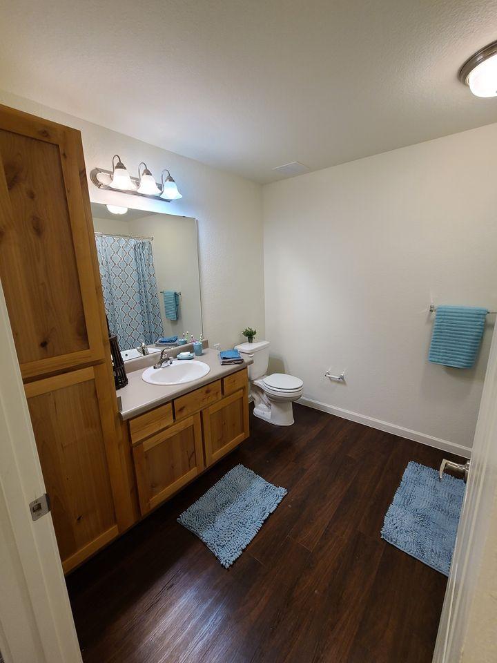 Western Springs Apartments Dripping Springs TX model bathroom