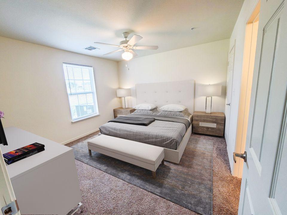 Western Springs Apartments Dripping Springs TX model bedroom 2