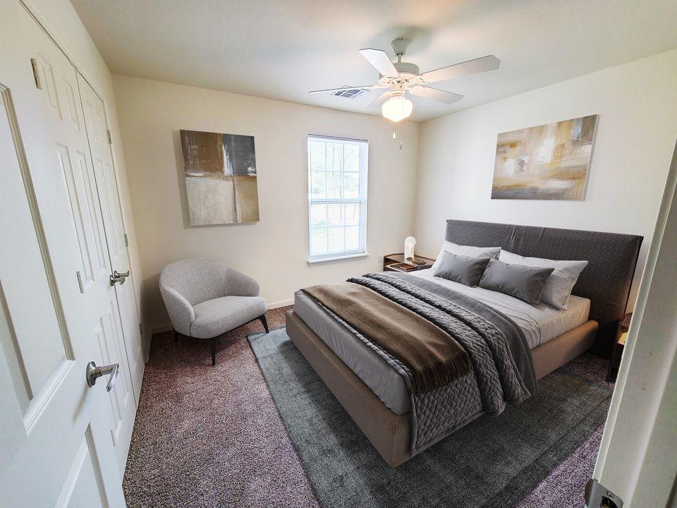 Western Springs Apartments Dripping Springs TX model bedroom