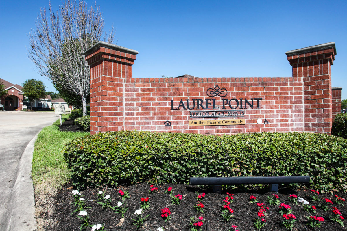Laurel Point Houston Texas main sign