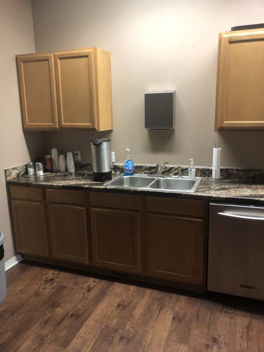North Grand Villas Amarillo TX clubhouse kitchenette