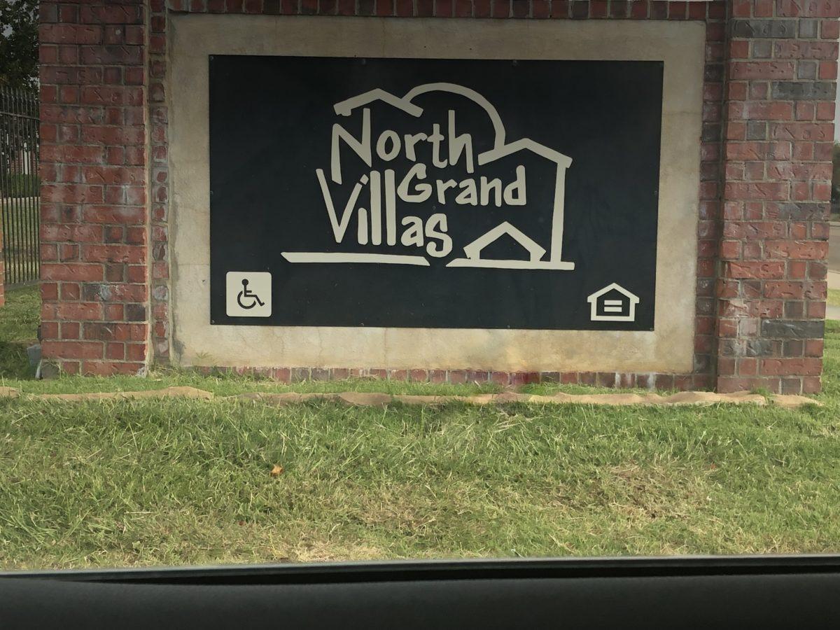 North Grand Villas Amarillo TX sign