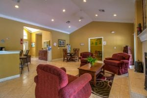 Timber Run Apartments Springs Texas clubhouse community room 2