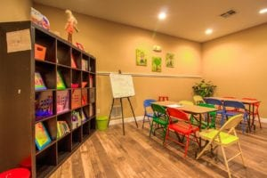 Timber Run Apartments Springs Texas clubhouse kids corner 2