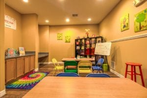 Timber Run Apartments Springs Texas clubhouse kids corner